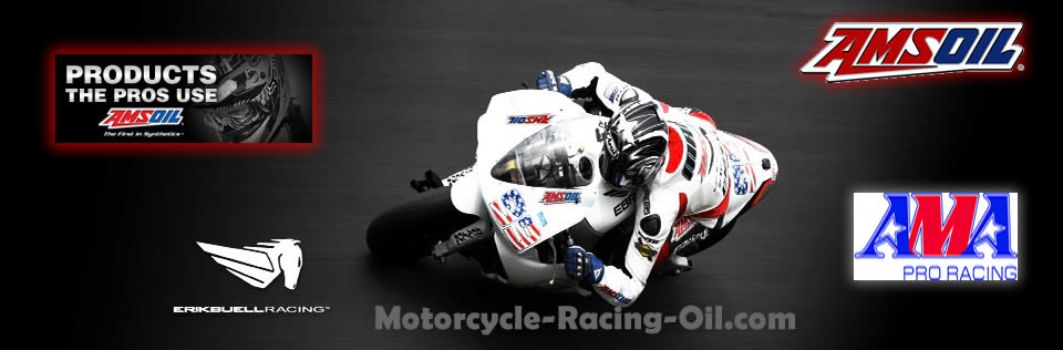 Amsoil synthetic motorcycle racing oil